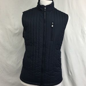 Johnston And Murphy Black Puffer Fitted Vest Sz L